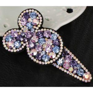 Minnie Mouse Rhinestone Hair Clip - Light Purple